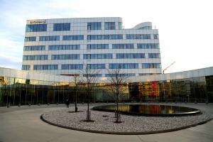 Le siège d'Ericsson à Kista, Suède.