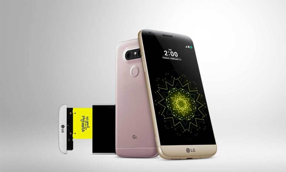 Le LG G5 dévoilé au MWC 2016 de Barcelone.