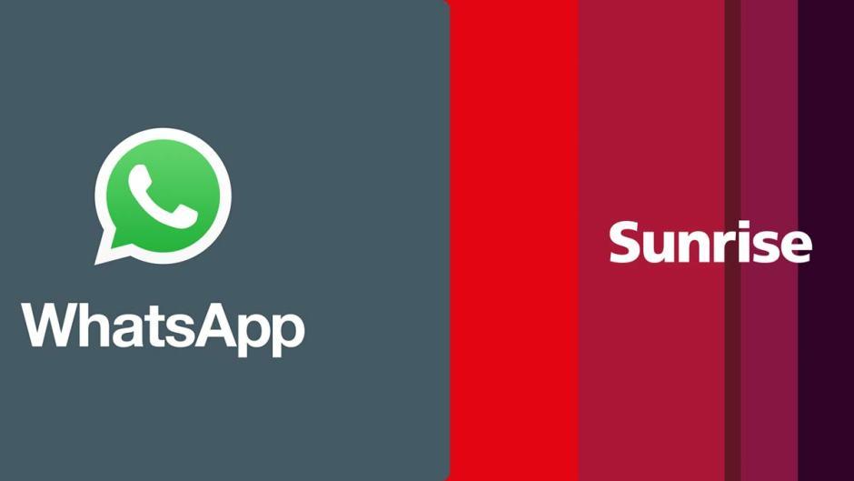 Sunrise offre les données de WhatsApp avec Freedom.