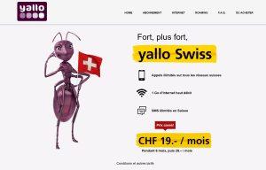Yallo Swiss en partenariat avec La Poste Suisse.