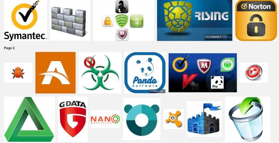 Une sélection d'antivirus.