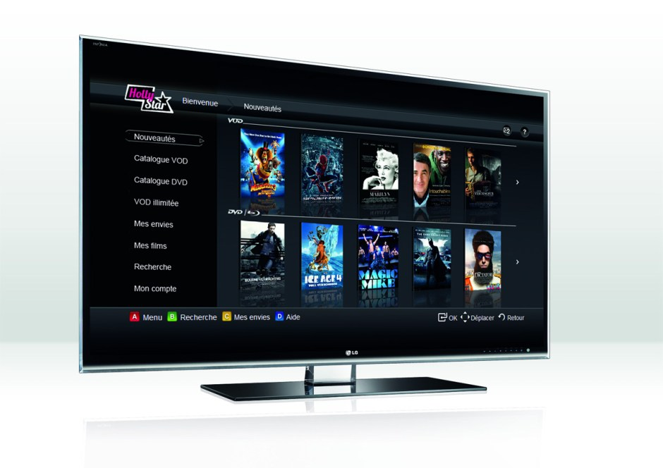 HollyStar sur les TV intelligentes.