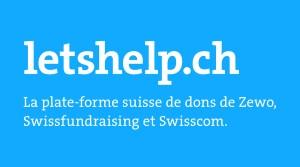 Le site internet letshelp.ch pour faire des dons plus facilement!