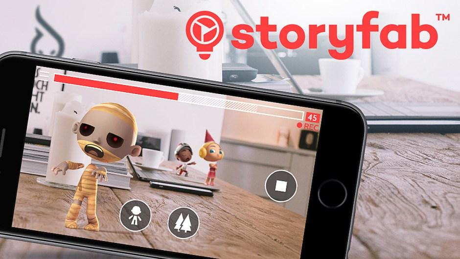 Réalité augmentée: l'application Storyfab.