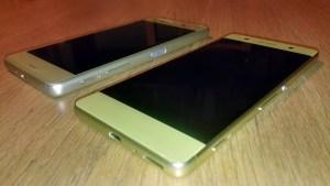 Sony Xperia XA (devant) et Sony Xperia X performance.