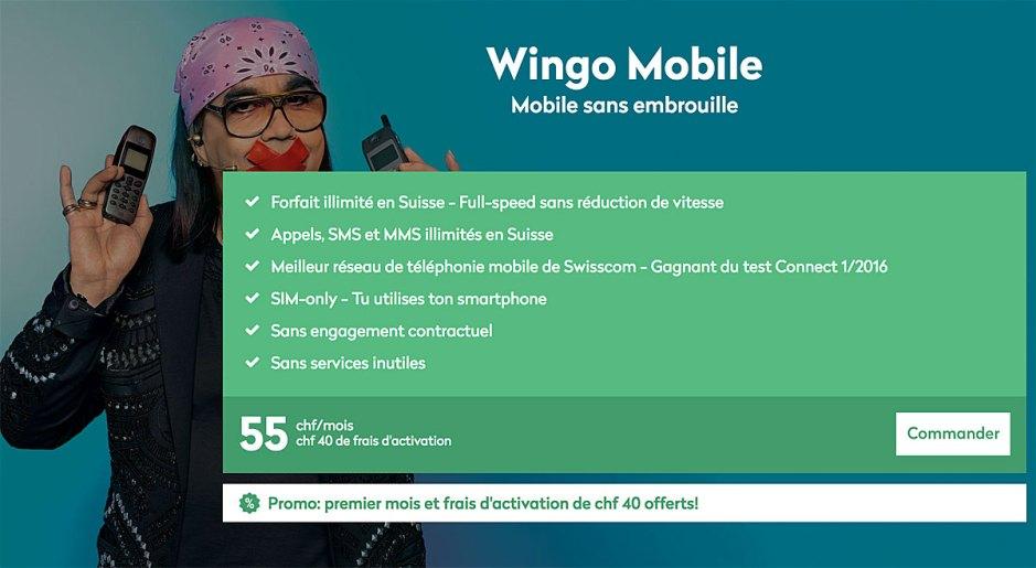 Wingo Mobile utilise le réseau de Swisscom.