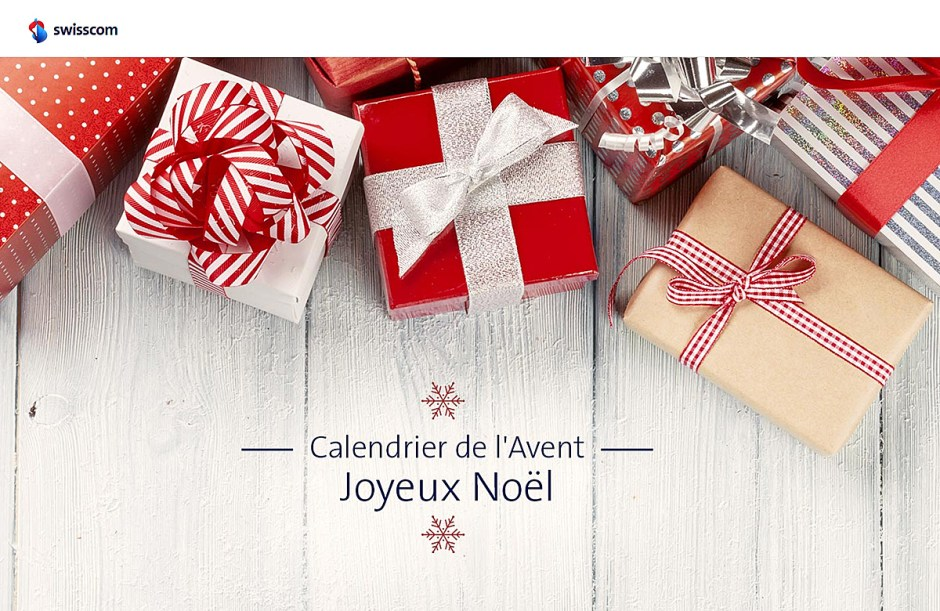 Swisscom propose un calendrier de l'avent pour faire quelques bonnes affaires avant Noël.