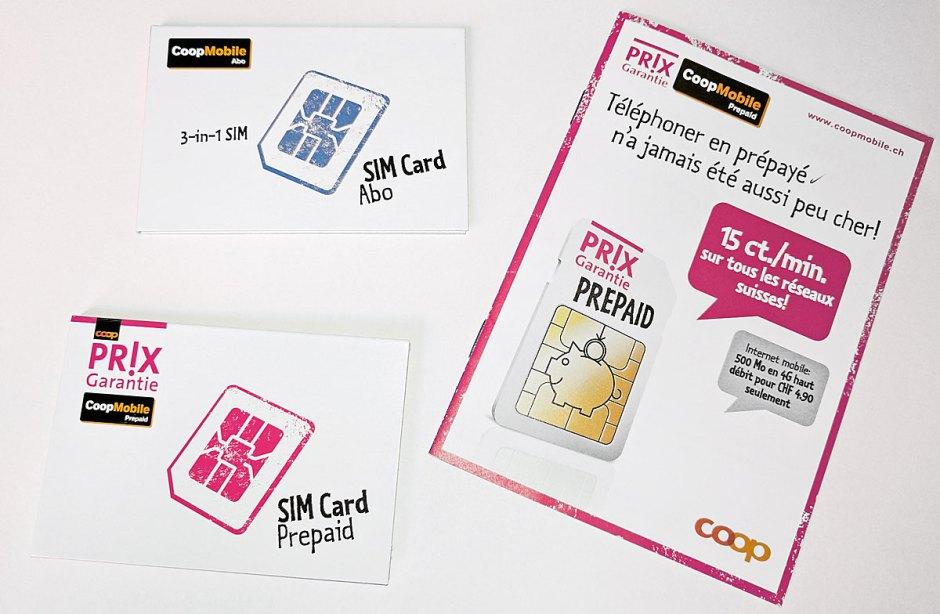Il faut commander les cartes nano SIM par téléphone chez CoopMobile...