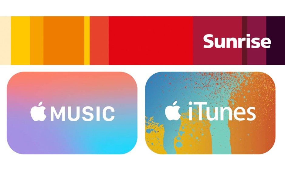 Sunrise Pay pour Apple Music et iTunes.