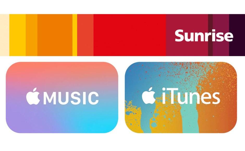 Sunrise Pay pour Apple Music et iTunes.