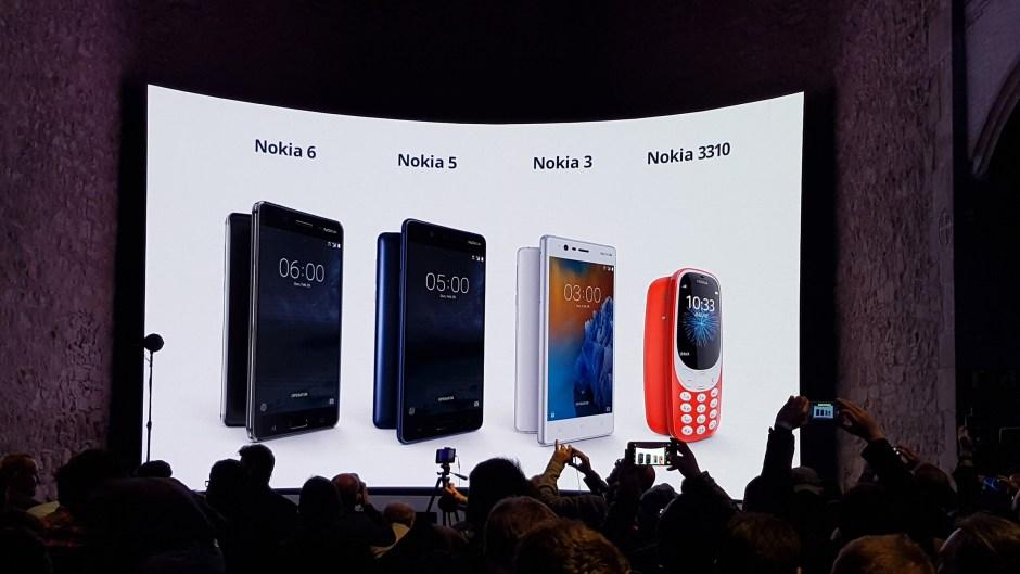 HMD lance les Nokia 3,5, 6 et 3310 au niveau global.
