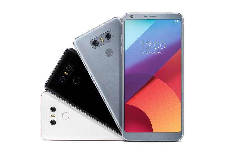 LG G6: écran de type FullVision, 5,7 pouces, QHD 16 :9 de 2880 x 1440 pixels. Double capteur de 13 millions de pixels avec grand angle.