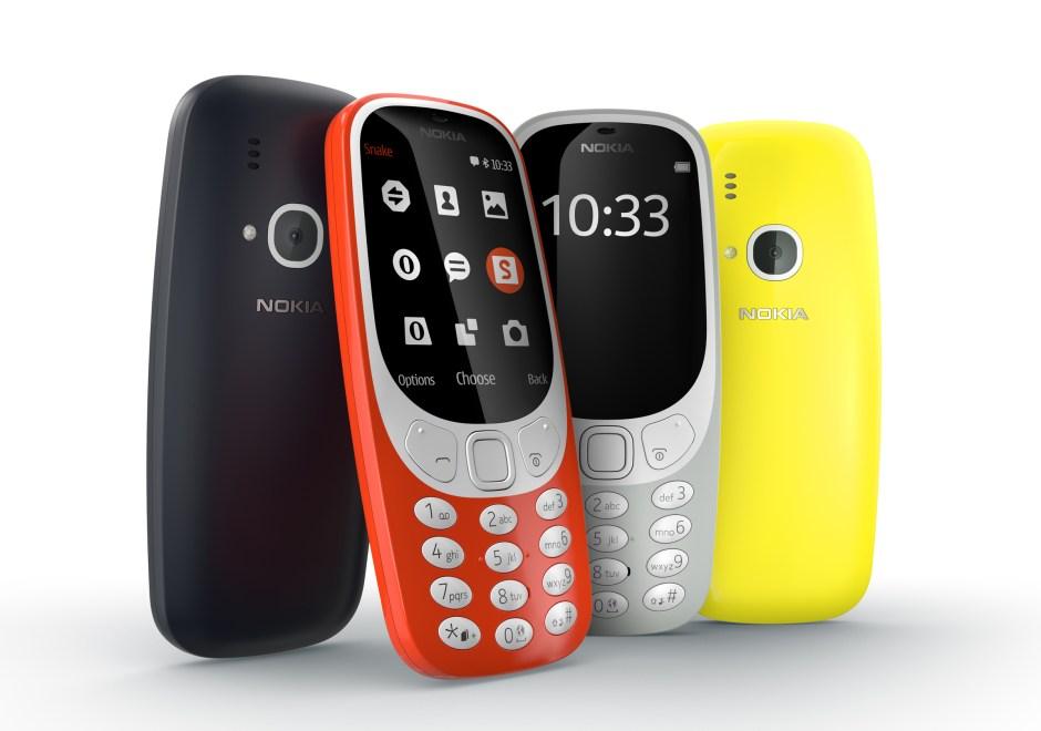 Nokia 3310: un écran couleur, jusqu'à un mois d'autonomie avec le jeu Snake pour 59 francs suisses.