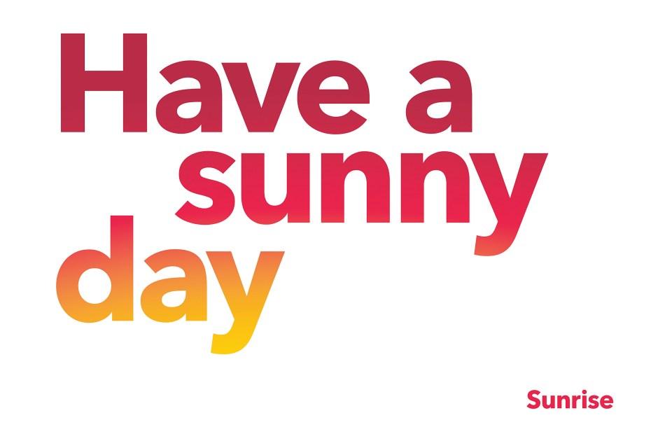 Faute de gagner vraiment des clients, Sunrise améliore son identité visuelle...