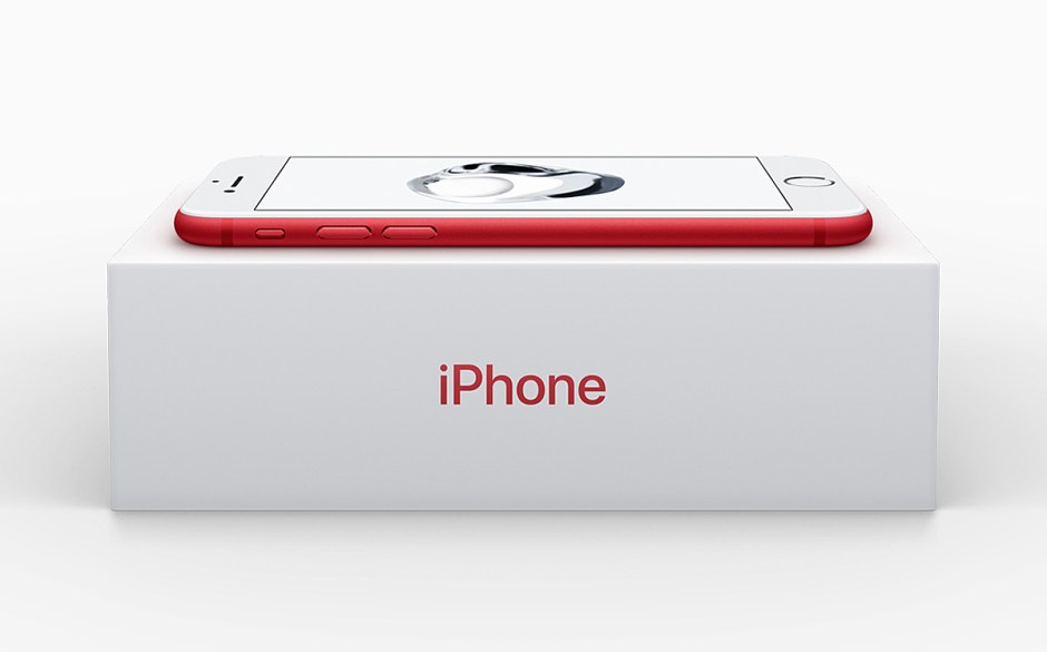 Les nouveaux iPhone 7 et 7 Plus Red.