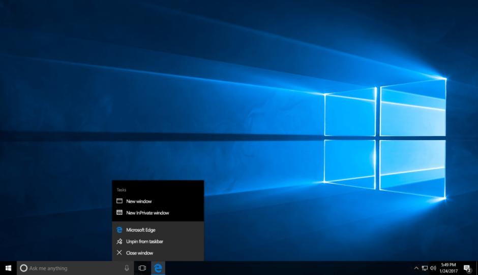 Le test de Microsoft Windows 10 Creator Update.