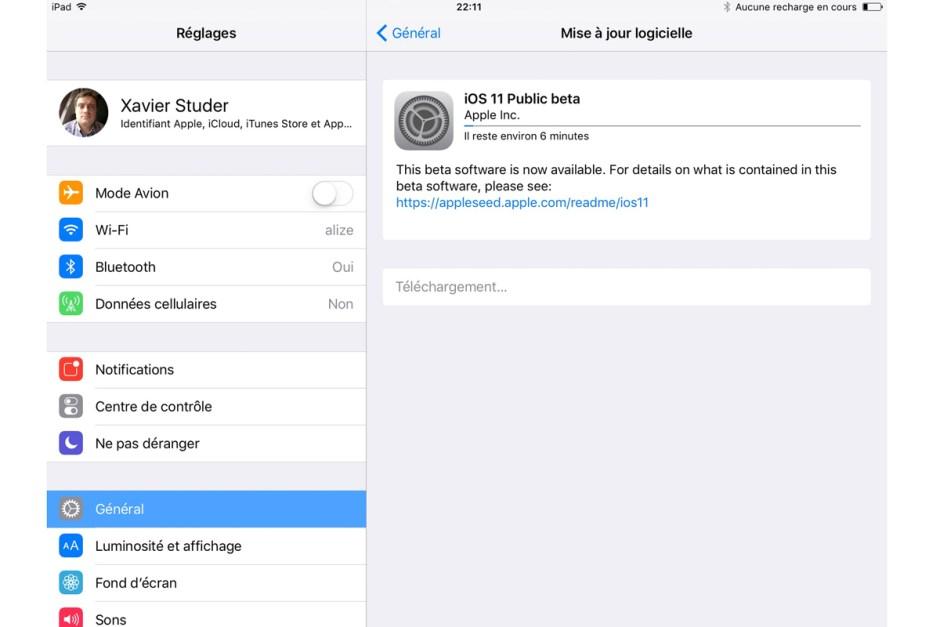 La Bêta d'iOS 11 est disponible pour les optimistes qui voudraient tester...