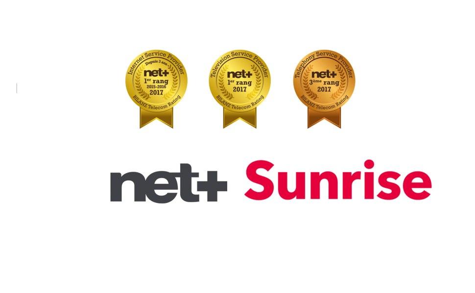 Sunrise se classe cette année une nouvelle fois en tête du classement Bilanz Telekom Rating 2017. Le Valaisan Net+ cartonne sur la TV et l'internet.