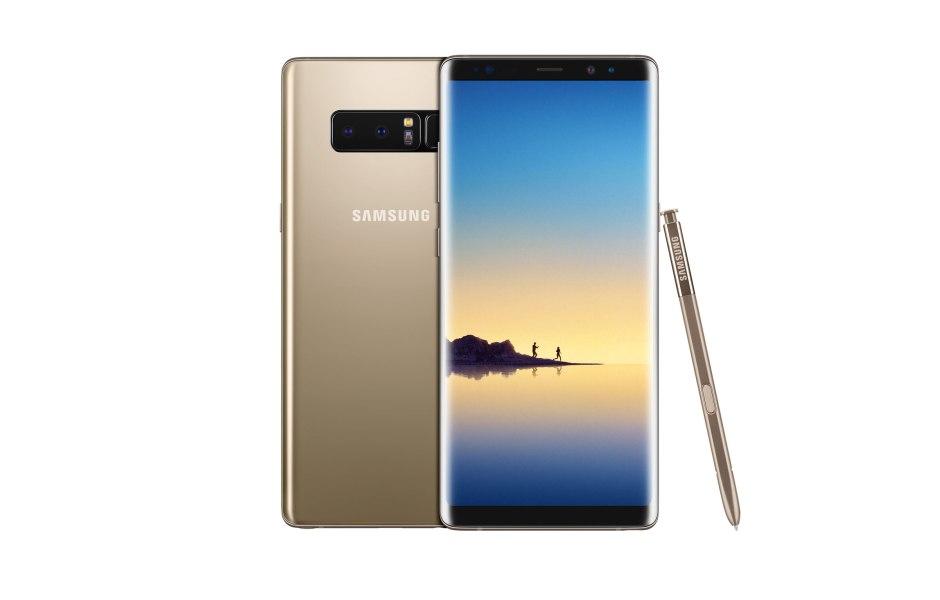 Le Samsung Galaxy Note 8 est doté d'un écran Quad-HD+ Super AMOLED Infinity de 6,3 pouces.