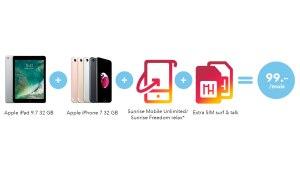 Que penser du Sunrise Apple Deal avec iPad et iPhone 7 pour 99 francs par mois?