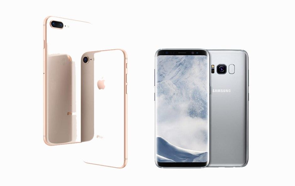Apple-Samsung: première manche avec le duel iPhone 8 vs Galaxy S8.