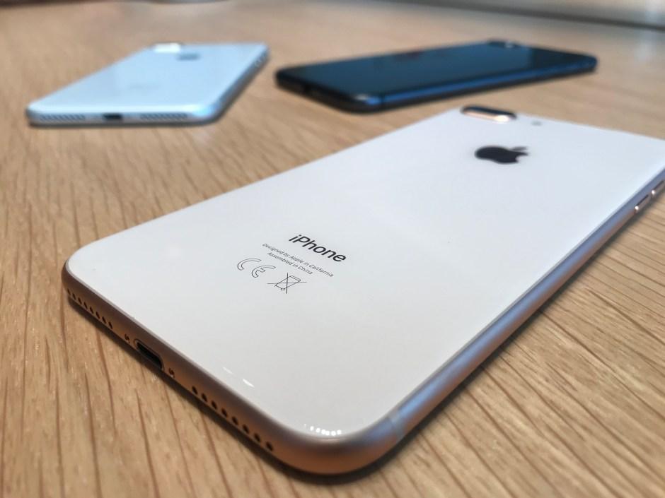 Les nouveaux iPhone 8 Plus.