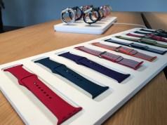 Les bracelets des nouvelles Apple Watch series 3.