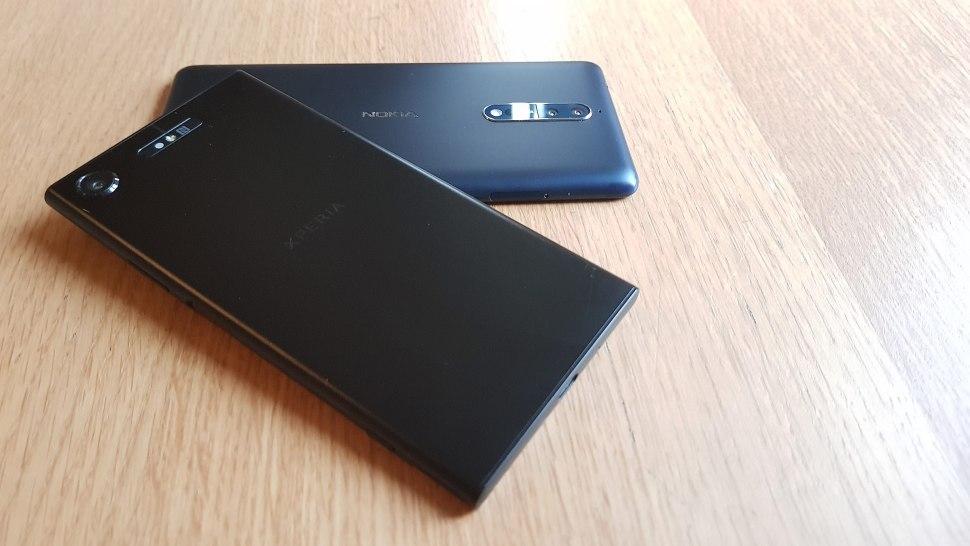 Le Sony Xperia XZ1 opposé au Nokia 8.
