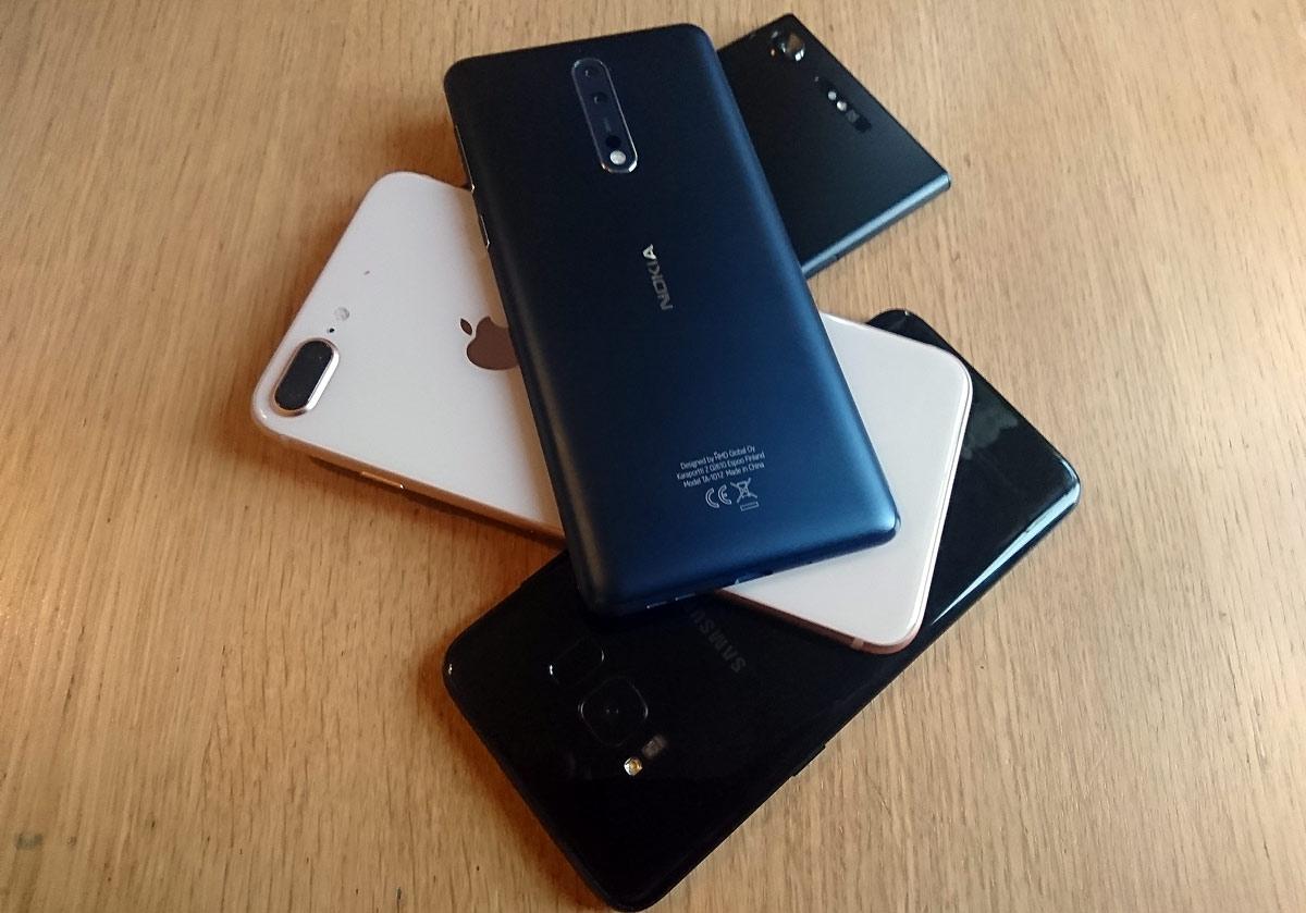 Test photo et vidéo: : iPhone 8 Plus vs Nokia 8 vs Xperia XZ1 vs Galaxy S8.