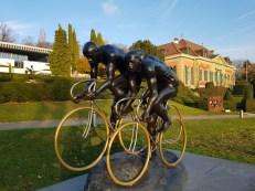Peloton cycliste: Samsung Galaxy S8.