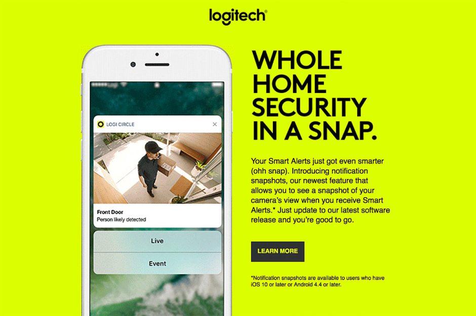 Logitech améliore les alertes de ses caméras de surveillance Circle.