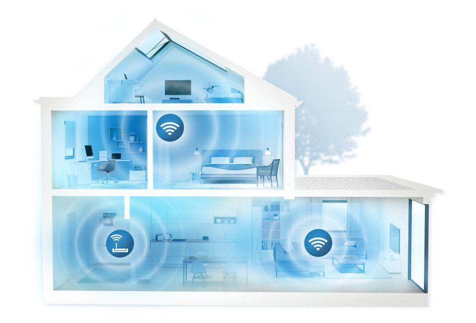Le kit Devolo Multiroom 1200+ Wi-Fi ac pour le Wi-Fi partout dans la maison.