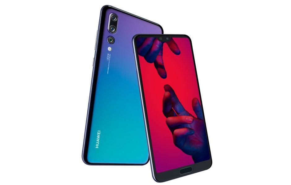 Le Huawei P20 Pro dans le coloris Twilight.