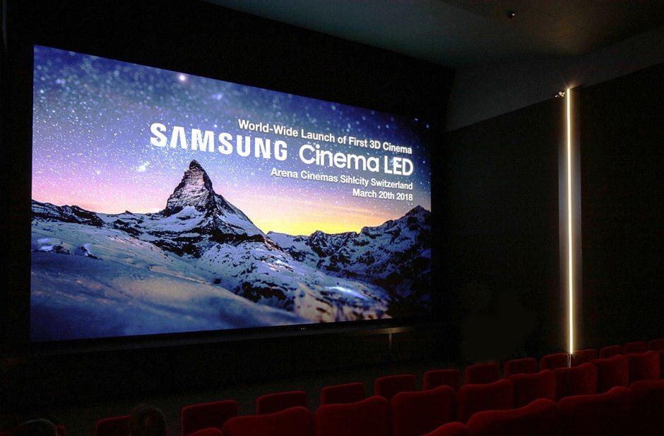 Avec ses 9 millions de LED pixels, le Cinema LED Screen 3D de Samsung débarque en première mondiale à Zurich. L'écran LED remplace le projecteur.