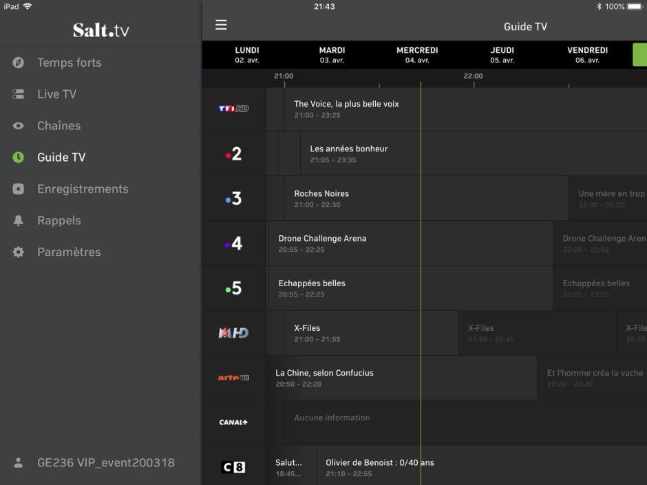 Salt TV: un guide efficace.