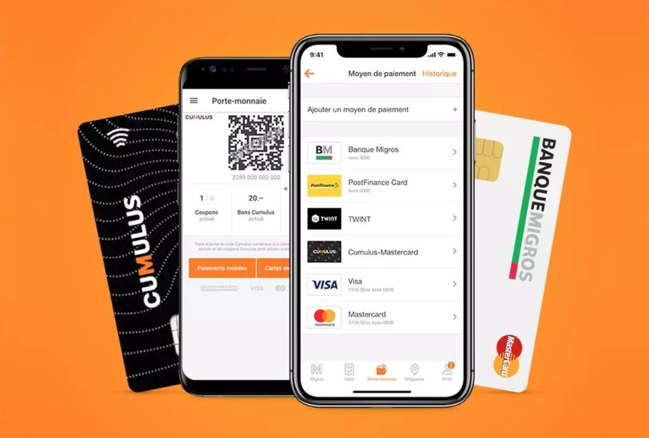 L'application de la Migros remplace : carte Cumulus, bons papiers, tickets de caisse… et sa Postcard.