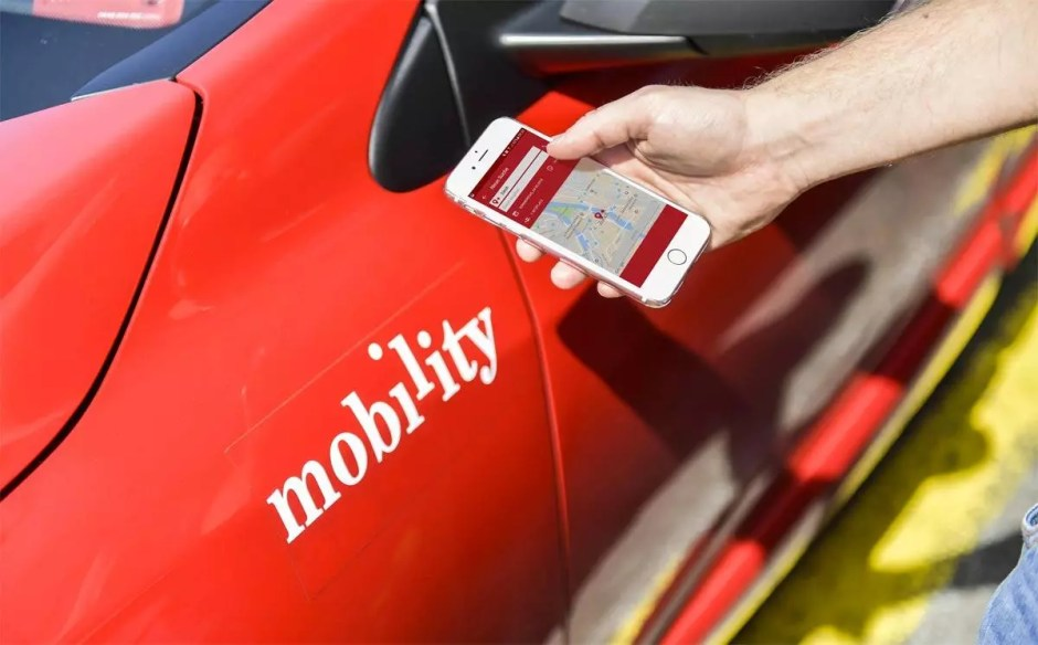 Mobility Carpool. obs/Mobility Carsharing Schweiz.