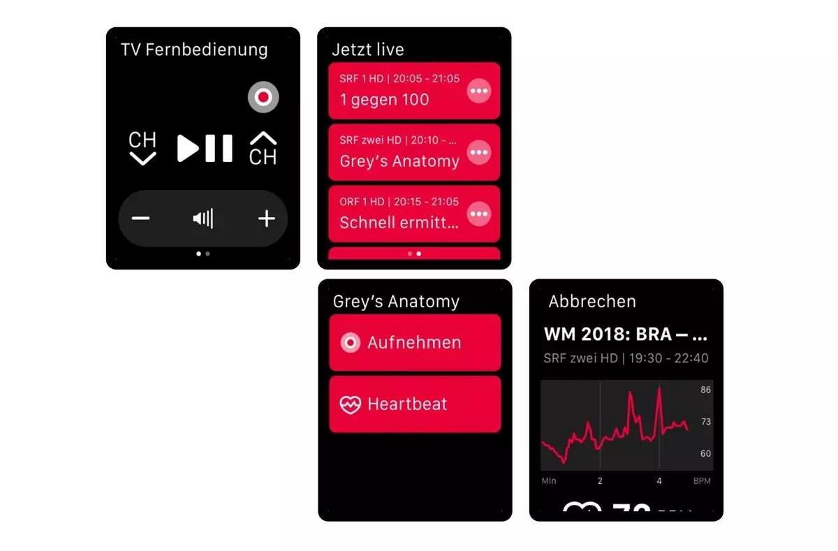 L'application Sunrise TV débarque sur l'Apple Watch!
