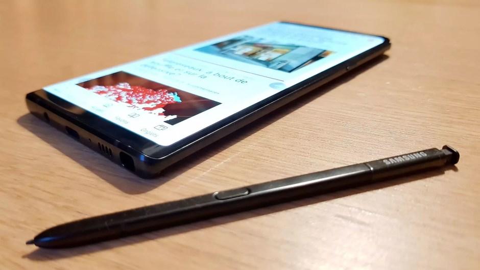 Samsung Galaxy Note 9: jusqu'à 1To de stockage et 8Go de mémoire vive.