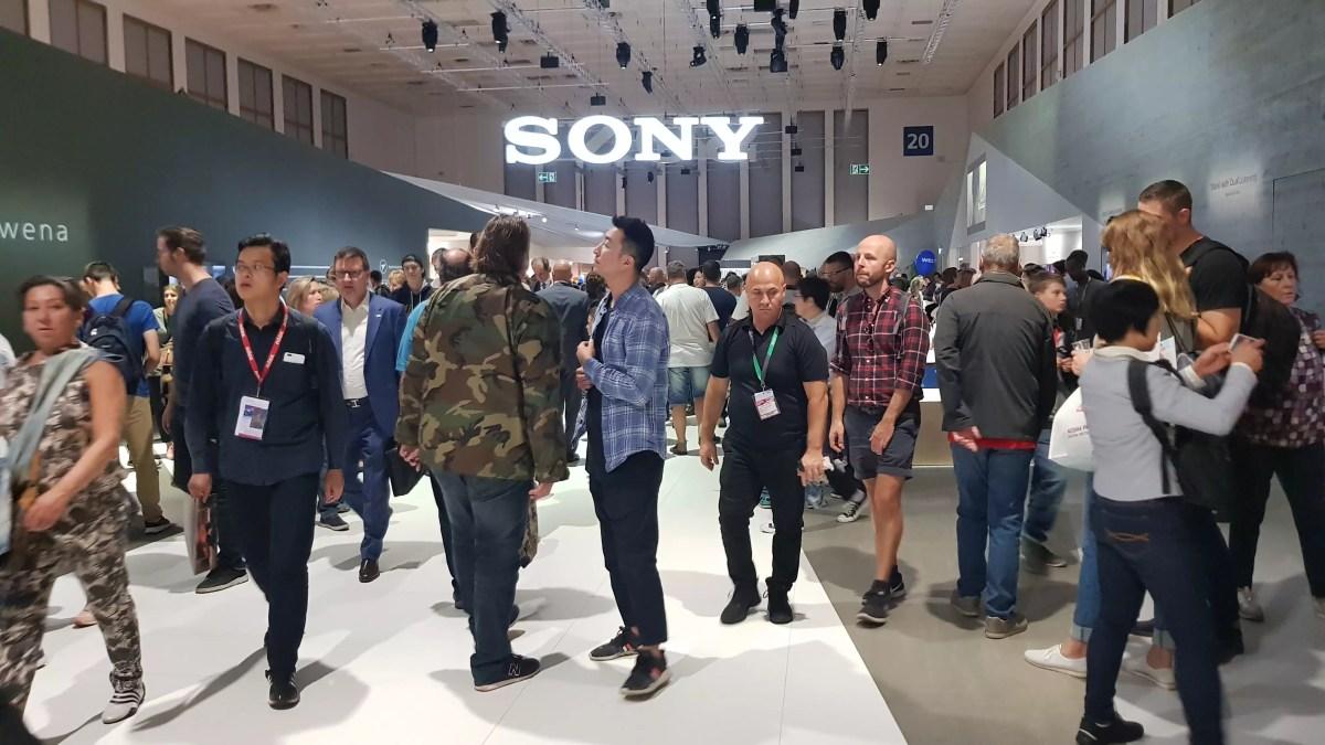 Le stand de Sony à l'IFA 2018 de Berlin.