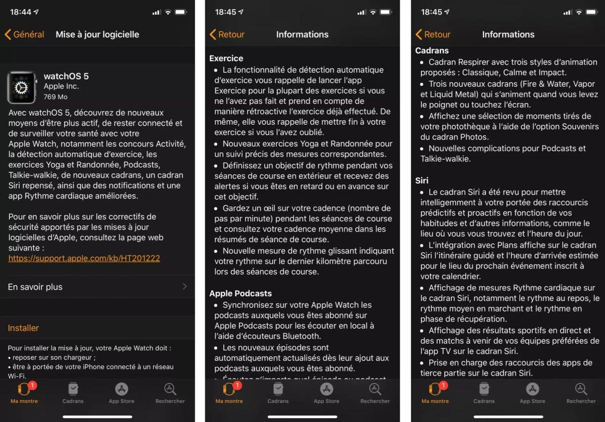 Premier pas sur WatchOS 5 en attendant les tests de l'Apple Watch series 4 et le l'iPhone Xs.
