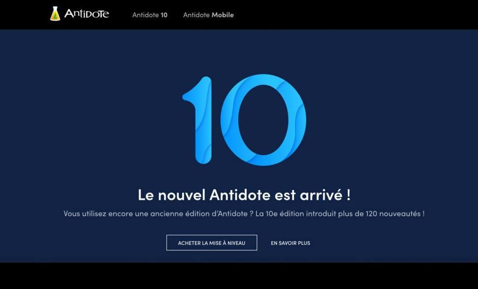 Antidote 10: 25 ans de correcteur.
