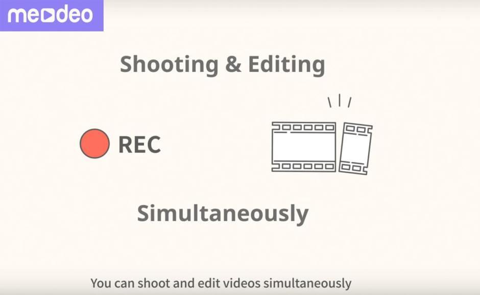 Medeo: pour filmer et monter ses vidéos en même temps!
