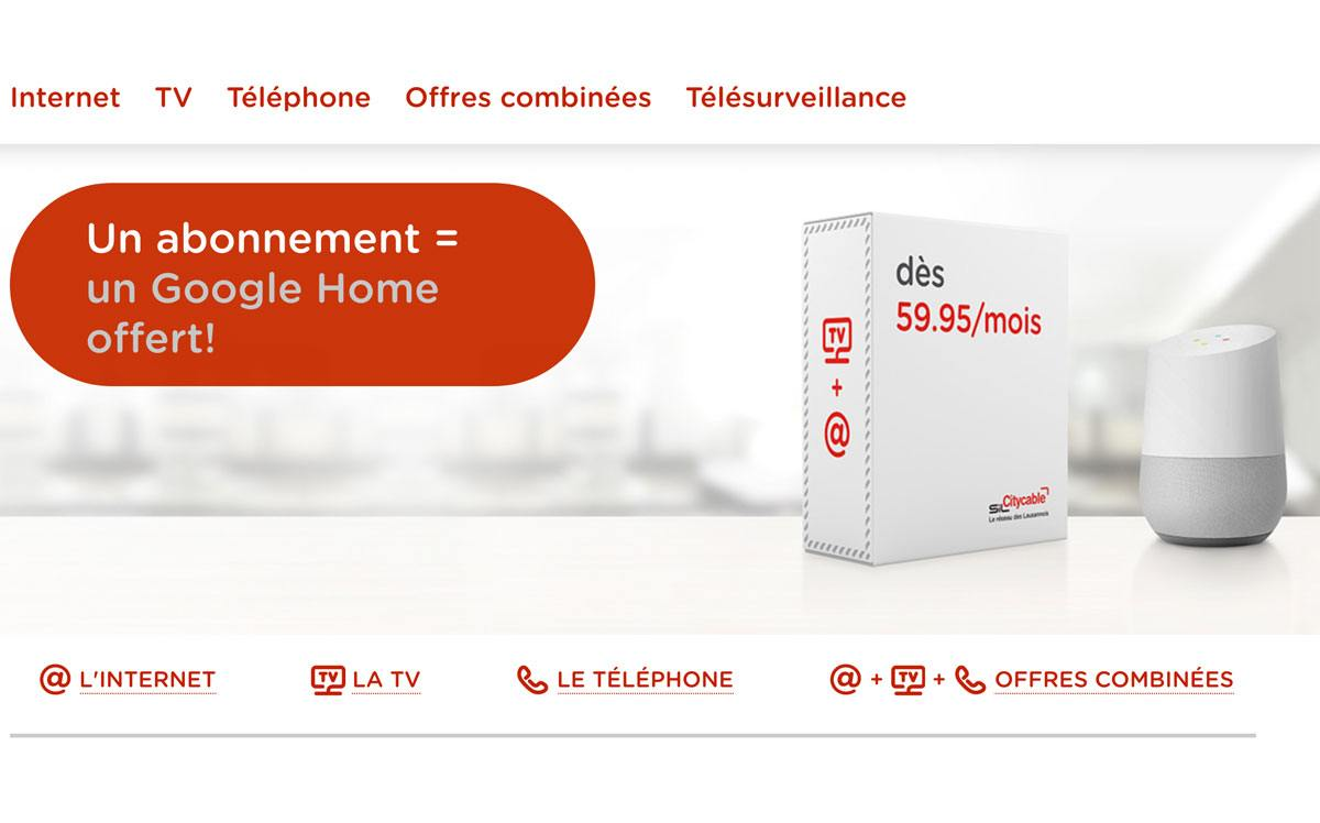 Citycable offre l'Assistant Google Home!