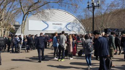 Conférence de presse Huawei à Barcelone.