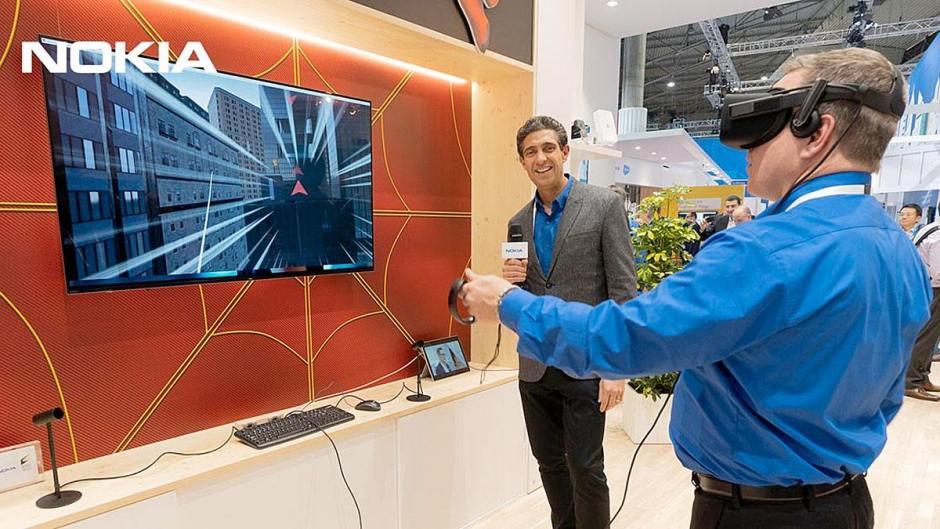 Nokia, Intel et Sony réunis autour de Spiderman au MWC 2019 de Barcelone.