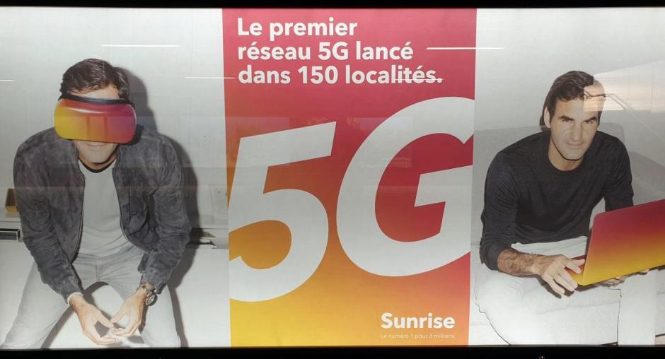 Sunrise matraque sur la 5G: on croirait une campagne de Swisscom!