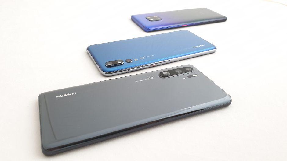 Huawei P30 Pro, Huawei P20 Pro, Huawei Mate 20 Pro.