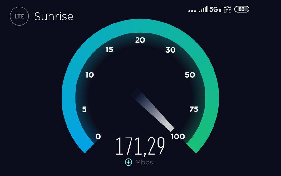 A fond la 5G sur le réseau de Sunrise, le plus avancé de Suisse!