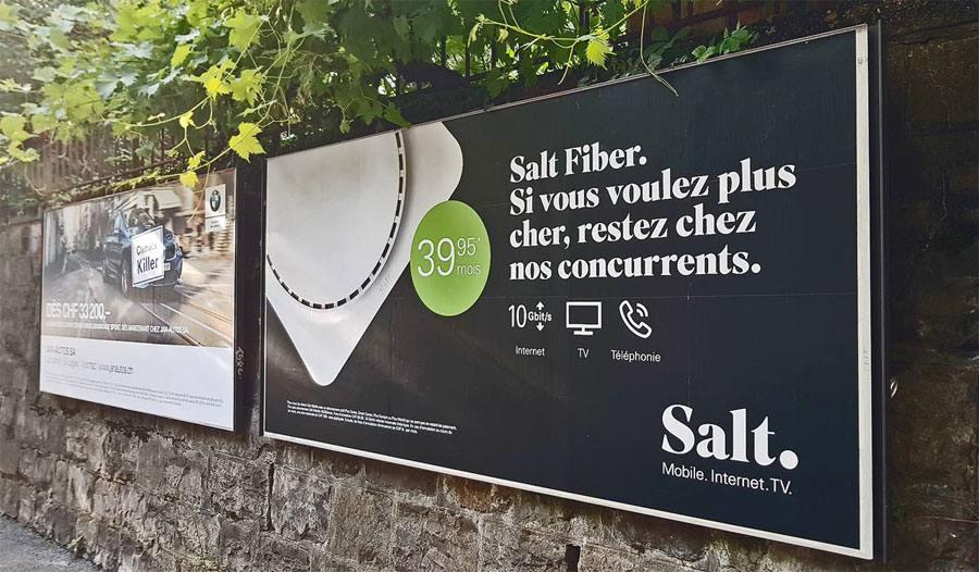 L'offre imbattable de Salt sur la fibre optique.